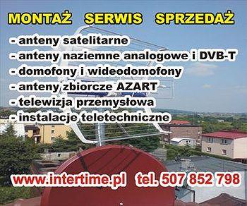 Montaż i naprawa anten satelitarnych i DVB-T, domofonów, telewizja przemysłowa