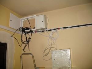 Antena zbiorcza szafka RTV i LAN