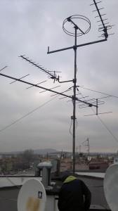 Modernizacja anteny zbiorczej w Będzinie.